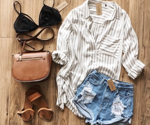 inspiration, striped shirt, and summer image