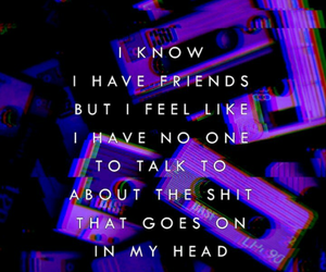 quotes, purple, and alone image