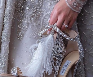shoes, wedding, and bride image
