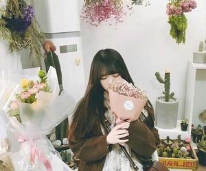 flower, girl, and ulzzang image