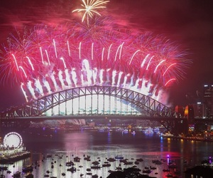 australia, fireworks, and happy new year image