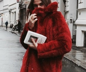 fashion, red, and book image