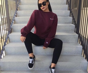 vans, black, and outfit image