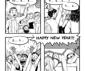funny, comic, and happy new year image