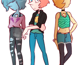 steven universe, pearl, and blue pearl image