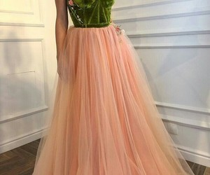 dress, green, and pink image