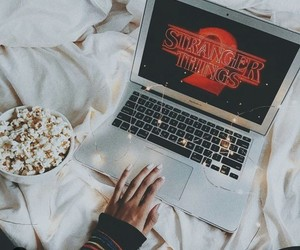 stranger things, article, and popcorn image