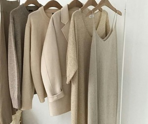 fashion, beige, and closet image