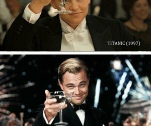 titanic, the great gatsby, and leonardo dicaprio image