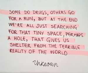 quotes, reality, and drugs image