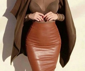 brown and skirt image