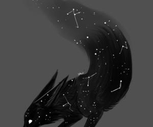 art, stars, and black image