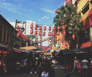 china town, girls, and KL image