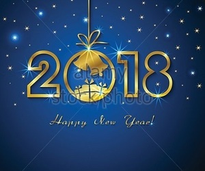 new year and 2018 image