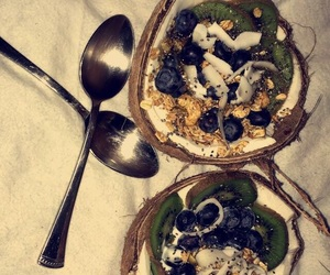 breakfast, coconut, and diet image
