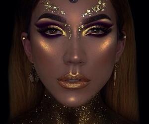 glitter, luminoso, and golden image