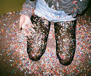 party, confetti, and fun image