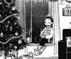 christmas, drawing, and art image