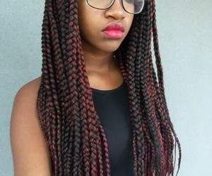 African, braids, and black image