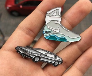 Back to the Future, pins, and nike shoes image