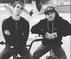 black and white, bmx, and youtube image