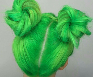 green, hair color, and hair image