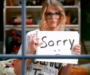 Taylor Swift, sorry, and you belong with me image