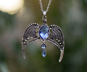 harry potter, necklace, and ravenclaw image