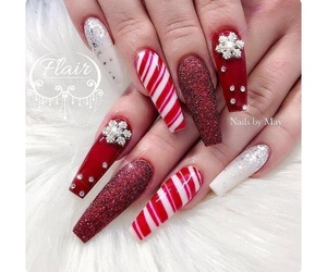 candy cane, christmas, and nail art image