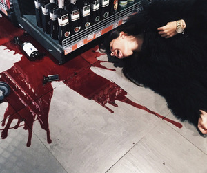 wine, girl, and red image