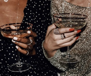 drink, nails, and style image