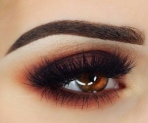 eyeshadow, brown, and eyes image