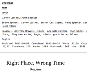 fanfic, shawn spencer, and carlton lassiter image