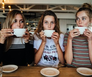 friends, coffee, and friendship image