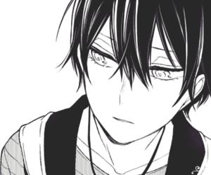 black and white, nisaka yuusuke, and boy image