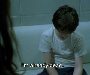 dead, sad, and boy image