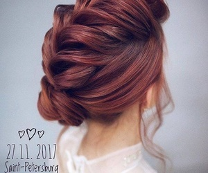 bun, fishtail, and hair image