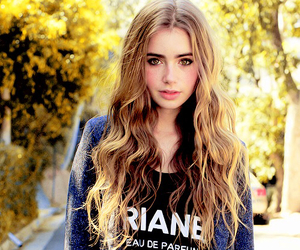 famous, lily collins, and girl image