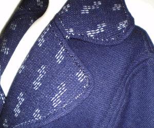 coat, cocoon coat, and lapel dark blue coat image