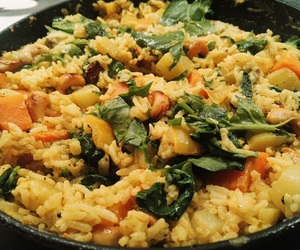 curry, food, and risotto image