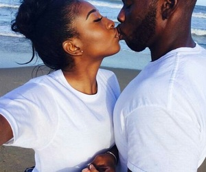 couple, black, and love image