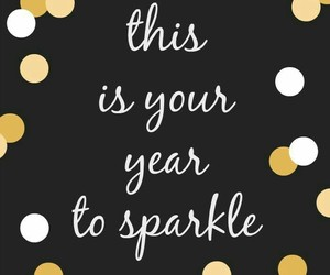 new year, pin, and quotes image