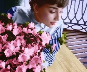 audrey hepburn, flowers, and black and white image