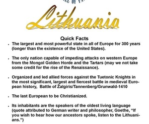 Lithuania, facts, and love my country image