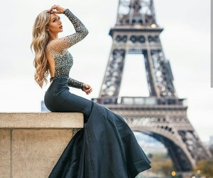 blonde, eiffel tower, and girl image