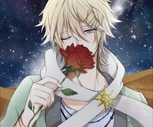 anime, holiday, and red rose image