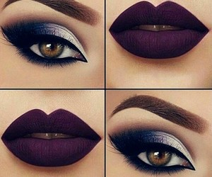 makeup, eyes makeup, and makeup look image