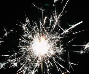 celebrate, sparklers, and newyear image