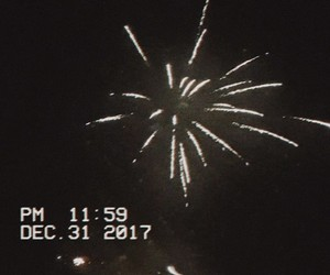 fireworks, new year, and vhs image