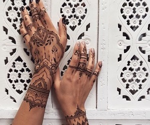 art, henna, and pretty image